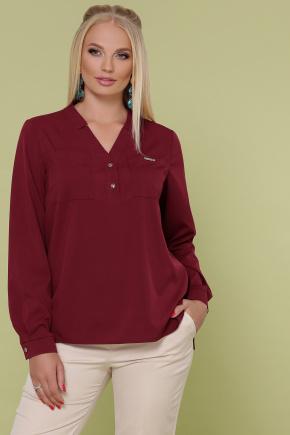 блуза Жанна-Б д/р. Цвет: бордо