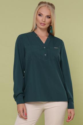 блуза Жанна-Б д/р. Цвет: изумруд