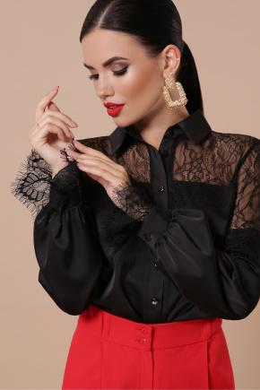 блуза Фарида д/р. Цвет: черный