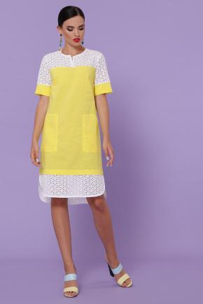 платье Сати-3 к/р. Цвет: желтый