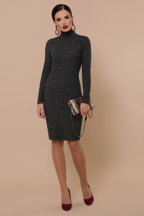 платье-гольф Алена д/р. Цвет: черный