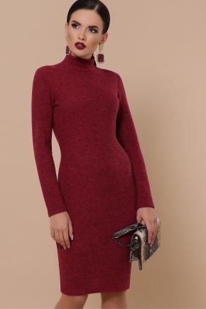 платье-гольф Алена д/р. Цвет: бордо