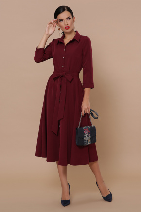 платье Ефимия д/р. Цвет: бордо