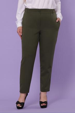 Бриджит-Б брюки. Цвет: хаки