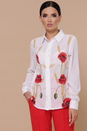 Маки Лекса КШ блуза д/р. Цвет: белый
