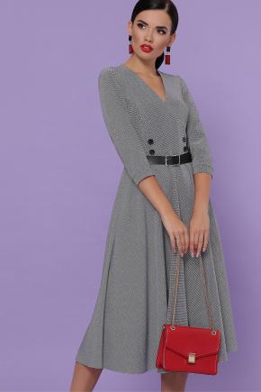 платье Киана д/р. Цвет: лапка м.черная
