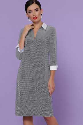 платье Даниэла д/р. Цвет: лапка м.черная