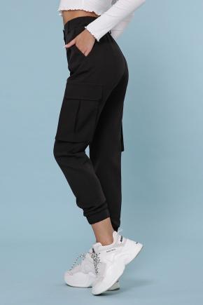 брюки-карго Стеф. Цвет: черный
