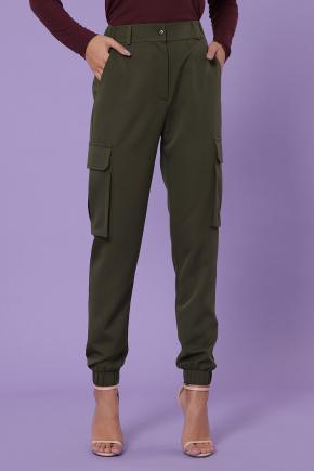 брюки-карго Стеф. Цвет: хаки
