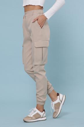 брюки-карго Стеф. Цвет: бежевый