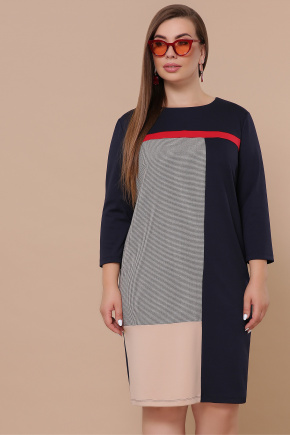 платье Ассоль-Б д/р. Цвет: синий