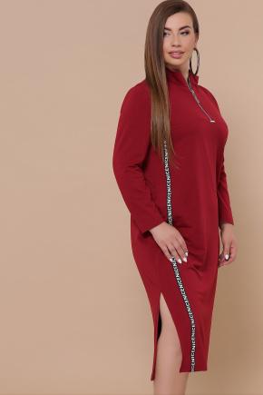 платье Джилл-Б д/р. Цвет: бордо