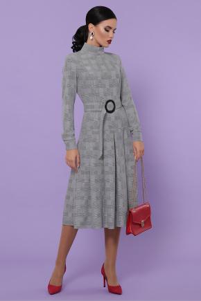 платье Аглая д/р. Цвет: клетка серая