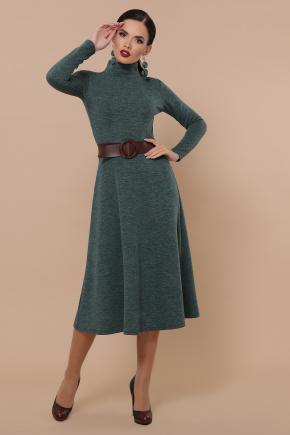Ава платье д/р. Цвет: изумруд