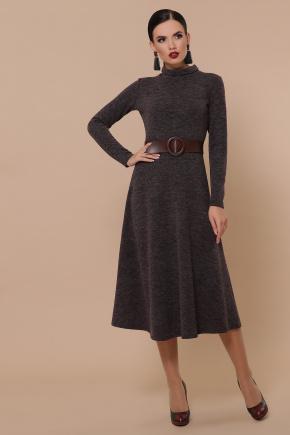 Ава платье д/р. Цвет: шоколад