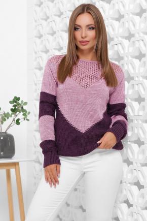 Свитер 163. Цвет: сирень-фиолетовый