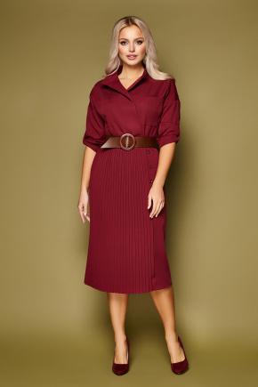 Платье Заира д/р. Цвет: бордо