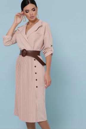 платье Заира д/р. Цвет: бежевый