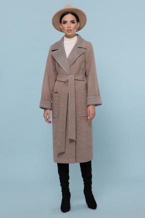 Пальто П-347-110. Цвет: 1-коричневый