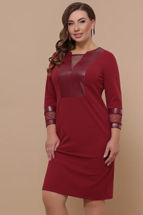 платье Дениз-Б д/р. Цвет: бордо