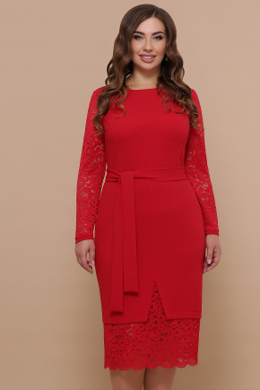 платье Марика-Б д/р. Цвет: красный