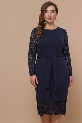 платье Марика-Б д/р. Цвет: синий