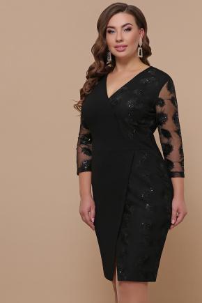 платье Лария-Б д/р. Цвет: черный