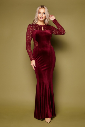 платье Арабелла д/р. Цвет: бордо
