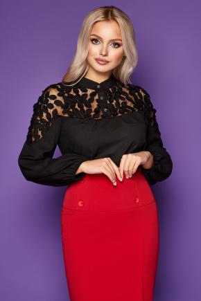 блуза Аяна д/р. Цвет: черный