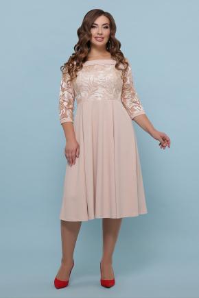 платье Тифани Б д/р. Цвет: бежевый