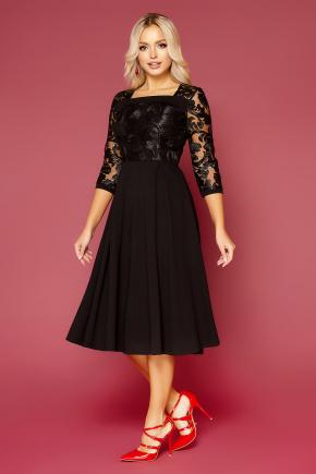 платье Тифани д/р. Цвет: черный