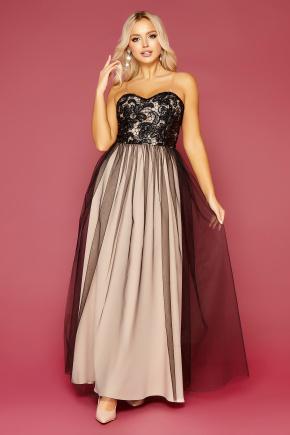 платье Макария б/р. Цвет: черный-бежевый