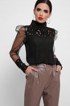 блуза Соломея д/р. Цвет: черный