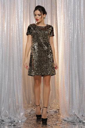 платье Ираида к/р. Цвет: черный-золото
