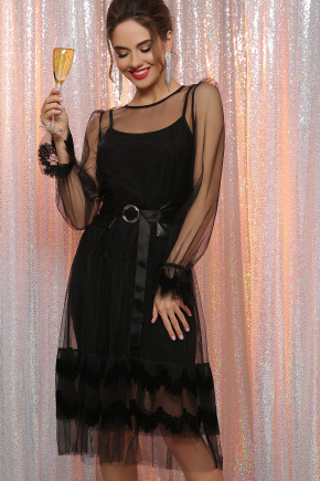 платье Мариям д/р. Цвет: черный