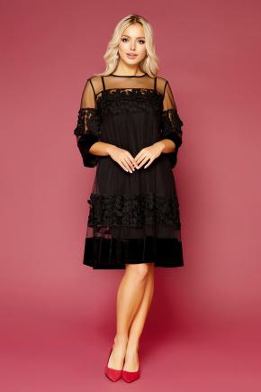 платье Хелма 3/4. Цвет: черный
