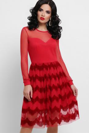 платье Алина д/р. Цвет: красный