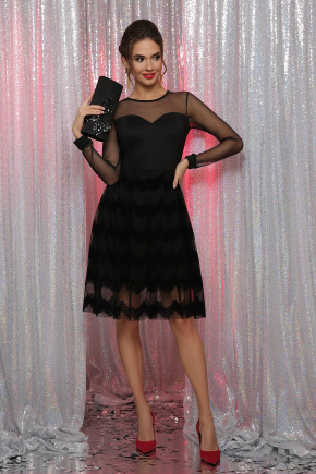платье Алина д/р. Цвет: черный