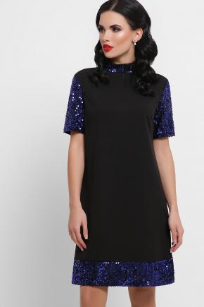 платье Бетти к/р. Цвет: черный-электрик