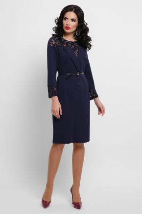 платье Леония д/р. Цвет: синий