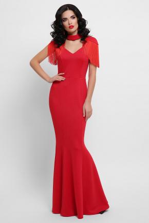 платье Альфия б/р. Цвет: красный