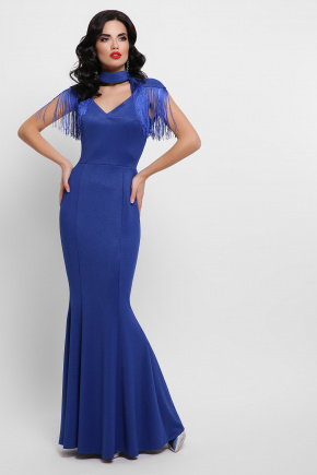 платье Альфия б/р. Цвет: электрик