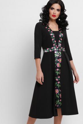 Орнамент Платье Вилора П д/р. Цвет: черный