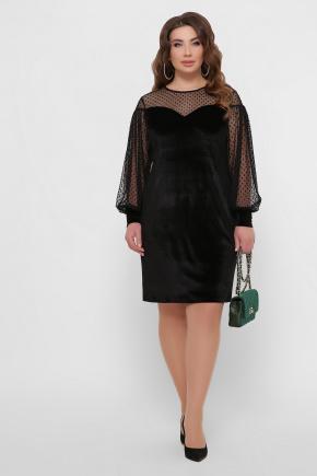 платье Медея-Б д/р. Цвет: черный