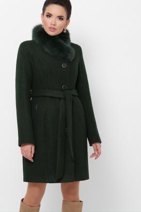 Пальто П-333-з мех. Цвет: 2105-т.зеленый