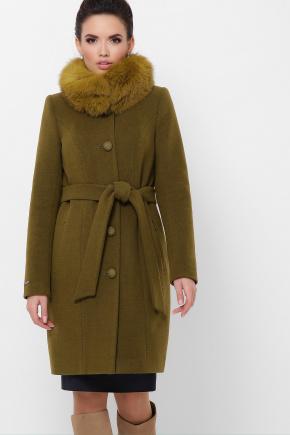 Пальто П-330-90 з. Цвет: 745-оливка