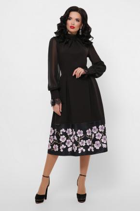 Сакура платье Аиша д/р. Цвет: черный