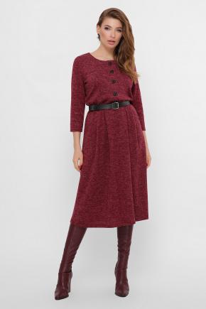 платье Инесса-Б д/р. Цвет: бордо