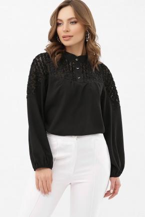 Блуза Аяна д/р. Цвет: черный 1