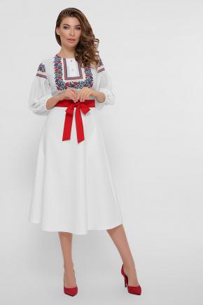 Орнамент платье Сапфира д/р. Цвет: белый